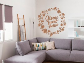 sticker autocollant home sweet home