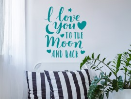 sticker autocollant Love You To The Moon