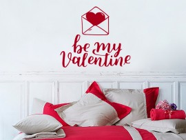 sticker autocollant be my valentine saint valentin