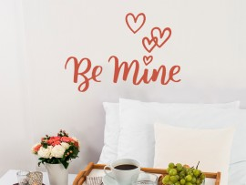sticker autocollant be mine amour st valentin