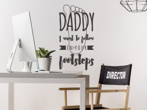 Sticker Daddy Follow Footsteps