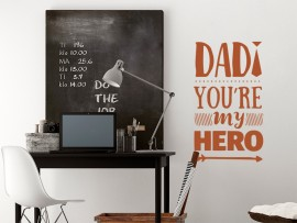 sticker autocollant Dad My Hero fete des peres