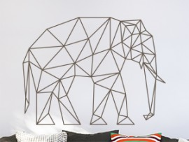 sticker autocollant elephant geometrique
