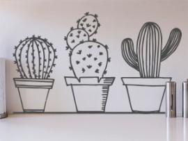 sticker autocollant pack cactus