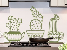 sticker autocollant pack cactus the