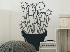 Sticker Cactus Family