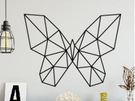 sticker autocollant papillon geometrique