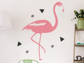 Sticker Flamant Rose 2