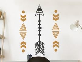 sticker autocollant fleches maya ethnique