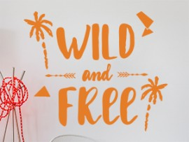 Sticker Summer Wild and Free