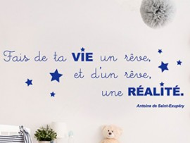 sticker autocollant citation st exupery petit prince