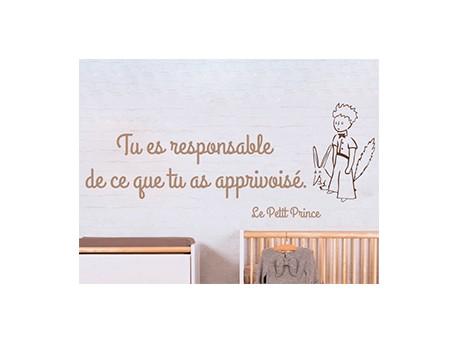 Sticker citation petit prince 3 magic stickers - Frise petit prince ...