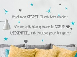 sticker autocollant citation petit prince 5