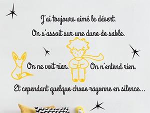 Sticker Citation Petit Prince 6