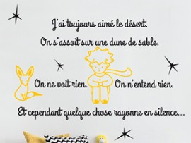 Sticker Citation Petit Prince 6