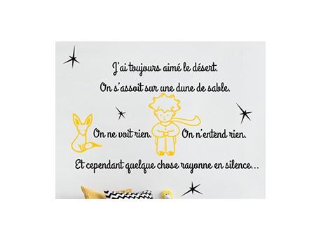 Sticker citation petit prince 6 magic stickers - Frise petit prince ...