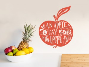 Sticker An Apple a Day