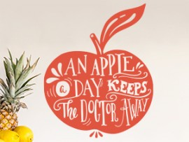 sticker autocollant an apple day fruit pomme