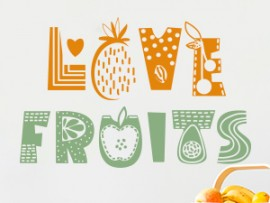 sticker autocollant love fruits cuisine