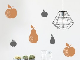 sticker autocollant pack poires pommes fruits