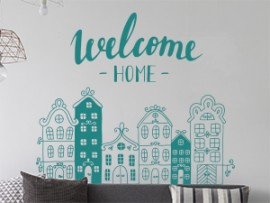 sticker autocollant welcome home maison