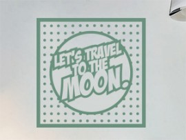 sticker autocollant pop art travel to the moon