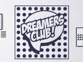 sticker autocollant pop art dreamers club