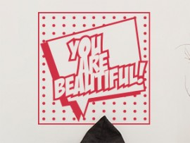 Sticker Pop Art You Are Beautiful