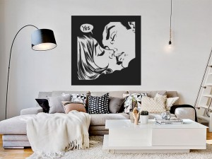 Sticker Pop Art Kiss