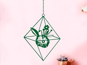 Sticker Fleur Suspendu