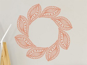 Sticker Feuilles Mandala