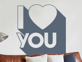 sticker autocollant pop art i love you