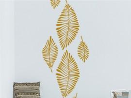 sticker autocollant feuilles exotiques
