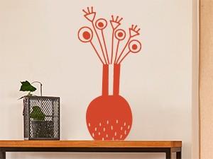 Sticker Vase Fleurs