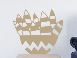 Sticker Vase Aloe Vera