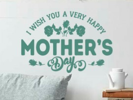 sticker autocollant happy mother's day fete des meres