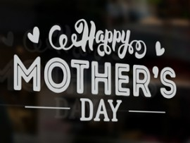 sticker autocollant happy mother's day festa da mae