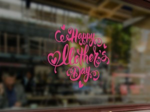 Sticker Happy Mother's Day Coeurs
