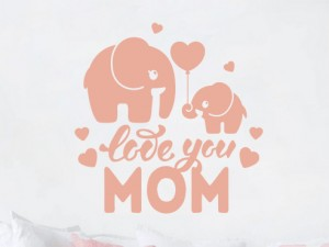 Sticker Love You Mom