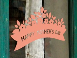 Sticker Happy Mother's Day  Floral 2