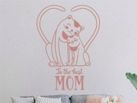 sticker autocollant Maman To the best Mom