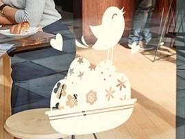 sticker autocollant oiseau de paques