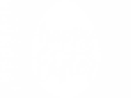 Sticker Happy Easter Oeuf Lettering