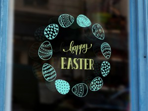 Sticker Happy Easter Oeufs 2