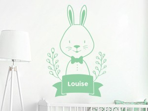 Sticker Cute Lapin Personnalisé