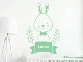 sticker autocollante cute lapin personnalise bebe