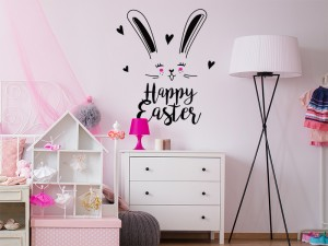 Sticker Happy Easter Lapin