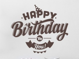 Sticker Happy Birthday