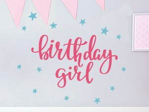 Sticker Birthday Girl