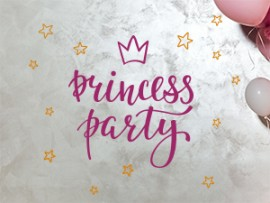 sticker autocollant princess party fete anniversaire